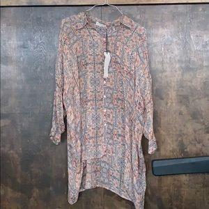 100% silk Jw button down tunic/dress